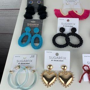 BaubleBar Jewelry - Sugarfix by Baublebar 10 Earrings Bundle